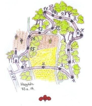 Házaspárok útja térkép